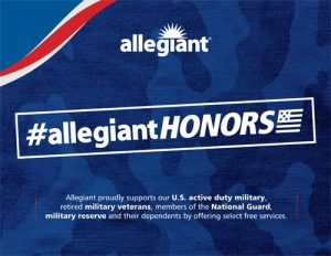 "Allegiant Honors"" Program Supports U S  Military & Veterans"
