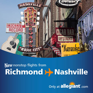 Allegiant Takes Off With New Nonstop Service To Nashville With Fares