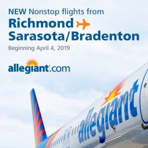 Allegiant Announces New Nonstop Service to Sarasota with
